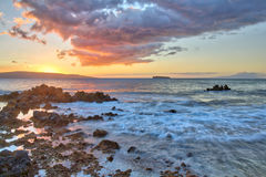 Sunset at Big Beach Royalty Free Stock Images