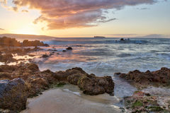 Sunset at Big Beach Stock Images
