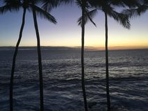 Sunset on the Big Island stock photography