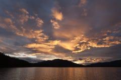 Sunset at Big Salmon Lake Royalty Free Stock Photos