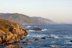 Before sunset at Big Sur  California Royalty Free Stock Photo