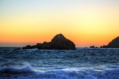 Sunset at Big Sur Royalty Free Stock Photography