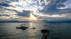 Sunset on Binh Lap beach Royalty Free Stock Photos