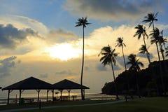 The sunset of bintan island Stock Photo