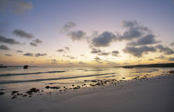 Sunset in Bira beach Royalty Free Stock Photos