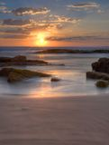 Sunset  at Birubi Beach, Australia Royalty Free Stock Image
