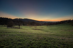 Sunset in Black Forest, Germany Royalty Free Stock Photography