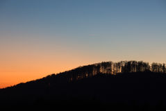 Sunset in black forest, Germany royalty free stock images