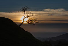 Sunset on the Black Mountain Royalty Free Stock Image