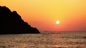 Sunset on Black Sea Stock Photography