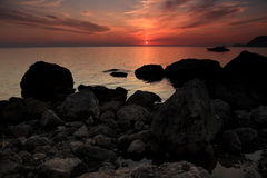 Sunset on the Black Sea Royalty Free Stock Photos