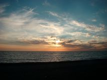 Sunset, Black sea Stock Photography