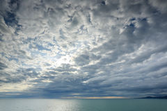 Sunset on the Black sea. Adler, Russia Royalty Free Stock Photos