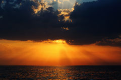 Sunset on the Black sea Royalty Free Stock Images