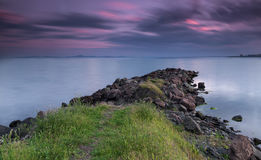 Sunset at the Black sea coast Stock Photography