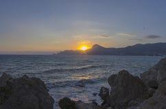 Sunset on the Black Sea. Crimea, September. Stock Photo