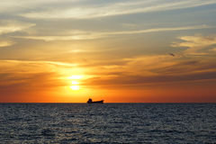 Sunset on the Black Sea Royalty Free Stock Photo