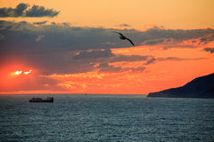 A sunset at the Black Sea Royalty Free Stock Photos