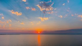 Sunset on the Black Sea, time-lapse stock footage