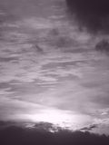 Sunset in Black and white Stock Photography