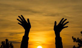 Sunset Blessing Royalty Free Stock Image