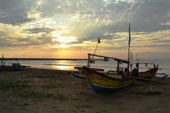 The Sunset. Blue beach, pelabuhanratu, west java indonesia Royalty Free Stock Photography