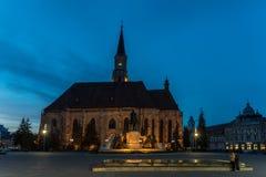 Sunset Blue Hour At Saint Michael Roman Catholic Church Stock Photography