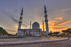 Sunset Blue Mosque Royalty Free Stock Photography