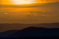 Sunset on the Blue Ridge Stock Photos