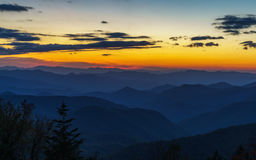 Sunset on the Blue Ridge Parkway royalty free stock photography