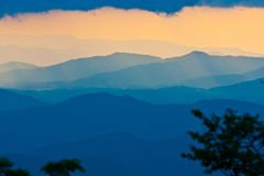 Sunset on the Blue Ridge Parkway in Noh Carolina Stock Image