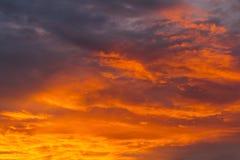 Sunset blue sky Royalty Free Stock Photo