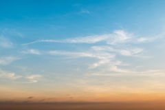 Sunset blue sky Stock Photo