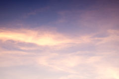 Sunset blue sky Royalty Free Stock Photos