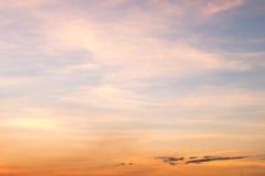Sunset blue sky Stock Photography