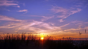 Sunset and blue sky Royalty Free Stock Photography