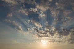 Sunset on a blue sky Stock Image