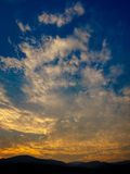 Sunset blue sky Stock Photography