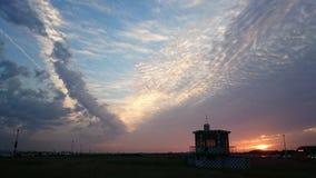 Sunset blue. Sunset sun sky cloud blue separate Stock Photos