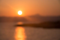 Sunset blur Majorca Royalty Free Stock Images