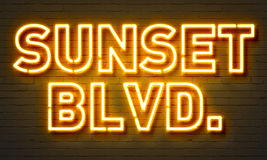 Sunset blvd neon sign Royalty Free Stock Image