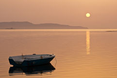 Sunset, Boat Royalty Free Stock Images