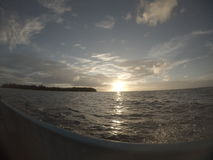 Sunset From Boat. At kei island, Maluku, Indonsia Stock Photo