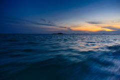 Sunset from a boat ride Royalty Free Stock Images