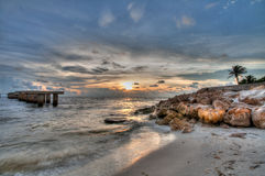Sunset at Boca Grande Beach, Florida. This is an HDR image taken at Boca Grande Beach in Florida stock photo