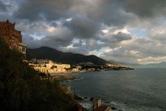 Sunset Boccadasse Royalty Free Stock Image