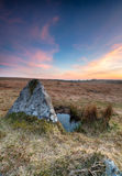 Sunset on Bodmin Moor Stock Photography