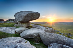 Sunset on Bodmin Moor Stock Photos