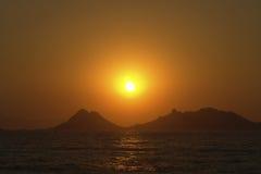 Sunset in Bodrum Stock Photo