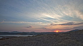 Sunset in Bodrum Royalty Free Stock Photography